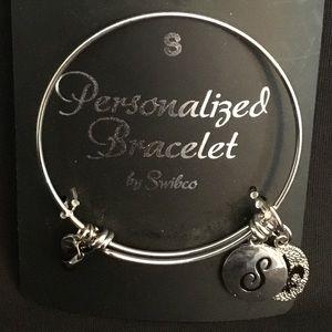 "Jewelry - Silver personalized ""S"" bracelet"